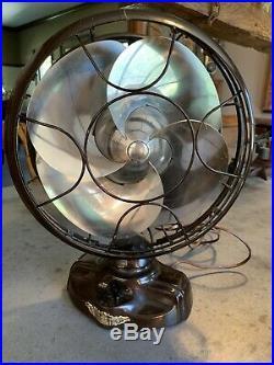 Vintage Antique Electric Fan Emerson Silver Swan