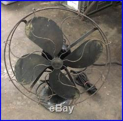 Vintage Antique Emerson Electric Fan Type 81748 Working Oscillating Desk Table