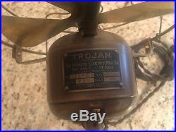 Vintage Antique Emerson Trojan 1911 ALL BRASS Electric Fan
