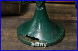 Vintage Antique GE General Electric Fan Army Military Green Brass Emblem 3 speed