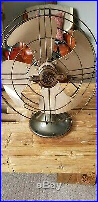 Vintage Antique Ge Vortalex Oscillating 3 Speed Fan Works Excellent The 1 U Want