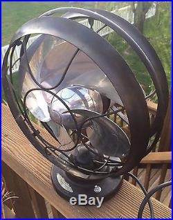Vintage Emerson Silver Swan Electric Fan 10 5250-C
