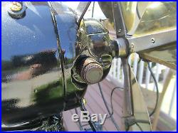 Vintage Fan Antique Fan Emerson Fan Brass Blade Fan DC Fan Runs On Ac A+ Blower