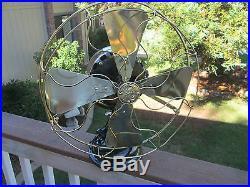 Vintage Fan Antique Fan Ge Pancake Fan 16 Brass Blade Fan Old Electric Fan