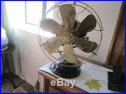 Vintage Fan Antique Fan Vintage Ge Fan 6 Wing Brass Blade Fan Fan Old Brass Fan