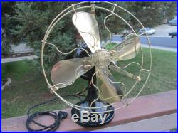Vintage Fan Antique Fan Vintage Ge Hunter Fan Brass Blade Fan Old Electric Fan