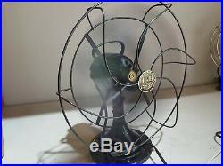Vintage Hunter Century Type F-12 Oscillating Fan 2 Speed Antique Original Works