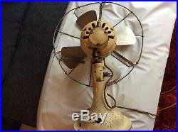 Vintage Industrial REVO Electric Metal Desk Factory Office Fan 12 inch diameter