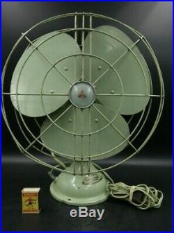 Vintage Mitsubishi oscillating fan 1940 / 1950 retro antique