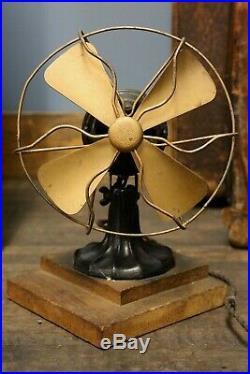 Vintage Polar Cub 6-inch Non-Oscillating Fan Antique drafting table desktop old