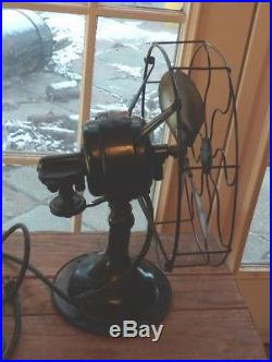 Vintage Robbins & Myers Fan 12 Brass 4 Blade Industrial Oscillating Antique Old