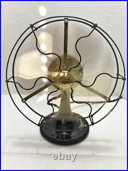 Vintage antique1920's 9 GE Whiz Electric Fan Brass Blade Restored