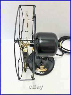 Vintage antique1920s 9GE Whiz Fan Brass Blades Sationary Variable Speed Switch