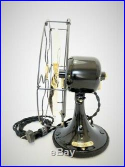Vintage antique1920s 9GE Whiz Fan Staionary With Brass Blades Restored L@@K
