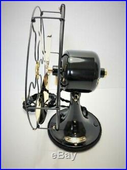 Vintage antique1920s GE 9 in Stationary Fan With Brass Blades Restored L@@K