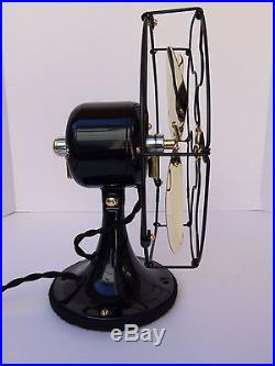 Vintage antique1920s GE 9 in stationary single speed fan Withbrass blade old badge