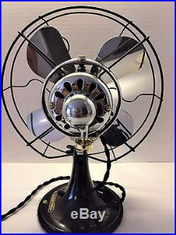 Vintage antique1920s ge 10 inch oscillating fan (Fully Restored) NICE LOOK