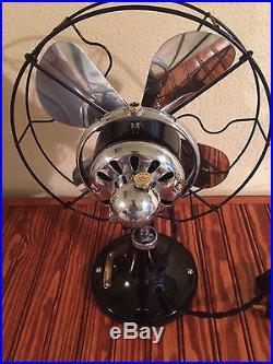 Vintage antique1920s ge 10 inch oscillating single speed fan (Restored) Nice