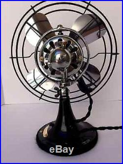 Vintage antique1920s ge 10 inch oscillating single speed fan (Restored) Perfect