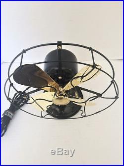 Vintage antique1920s ge 9 in Whiz Fan brass blade stationary (Restored) L@@K