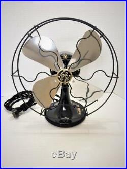 Vintage antique1929 GE 10 in Fan Electric Polished Alum Blades Restored L@@K