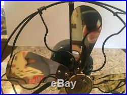 Vintage antique GE Electric fan 1920s WHIZ fan restored