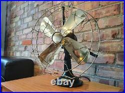 Vintage / antique art deco electric desk fan