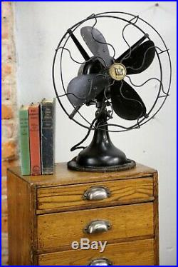 Vtg Antique Robbins & Myers Fan 12 Blades 3 speed oscillating Industrial cage