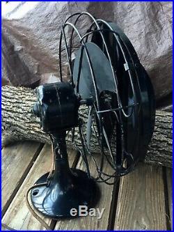 Vtg Antique VICTOR Cincinnati, Ohio'BREEZE SPREADER' 12 Electric Fan, 17 Tall