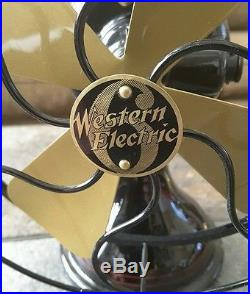 Western Electric 6 antique fan circa 1915, restored