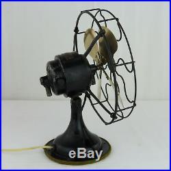 Western Electric Antique Desk Fan Brass Blades ALL ORIGINAL Works 110 Volts 6000