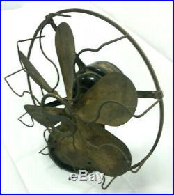 Westinghouse 12 6 Blade Brass Fan Vintage Antique Restoration Repair 1915 110V