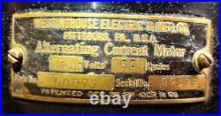 Westinghouse 12 inch Brass Blade Fan Style 60677 Tank Antique PAT. 1893-1906