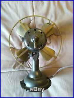 Westinghouse 8-inch Brass Fan ANTIQUE