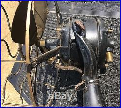 Westinghouse Model 80423 Brass Blade Cage Electric Fan Old Motor Antique