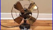 Westinghouse antique 8 inch brass desk fan gun metal color Model 98926a vintage